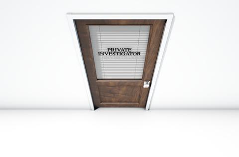 Door to private investigator's office
