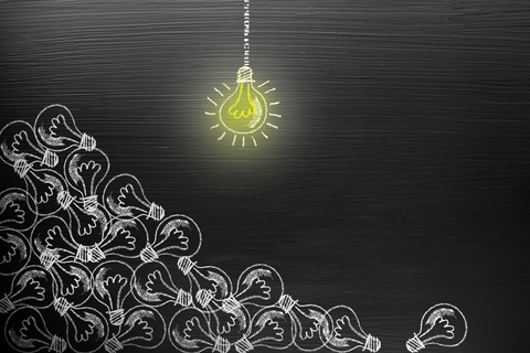 lightbulbs showing creativity